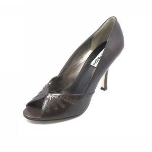 Steve Madden Pump Peep Toe Heels Brown 7.5 M